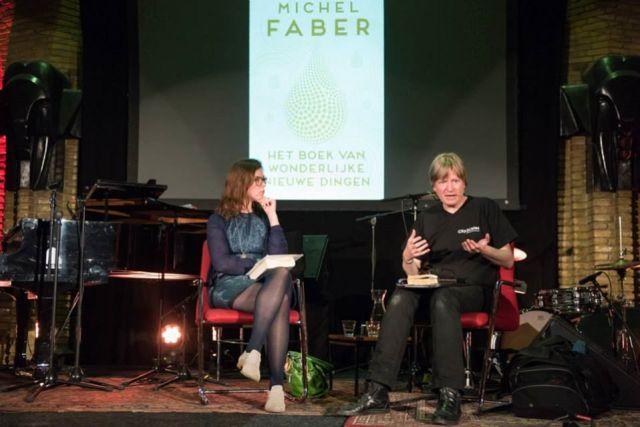 Maria met Michel Faber 16 mei 2015
