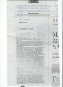 Column in De Standaard, 11 september 2015