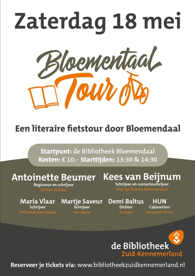 Flyer Bloementaaltour - Zaterdag 18 mei